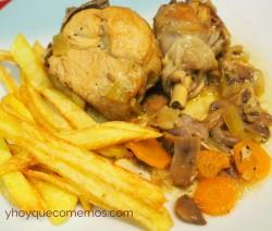pollo guisado con verduras en olla expres