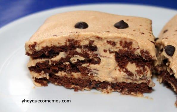 tarta de galletas y dulce de leche