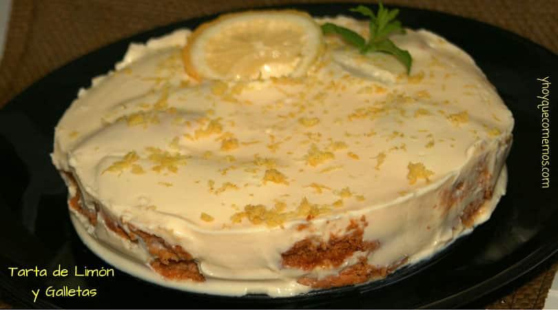 receta de tarta de limon y galletas