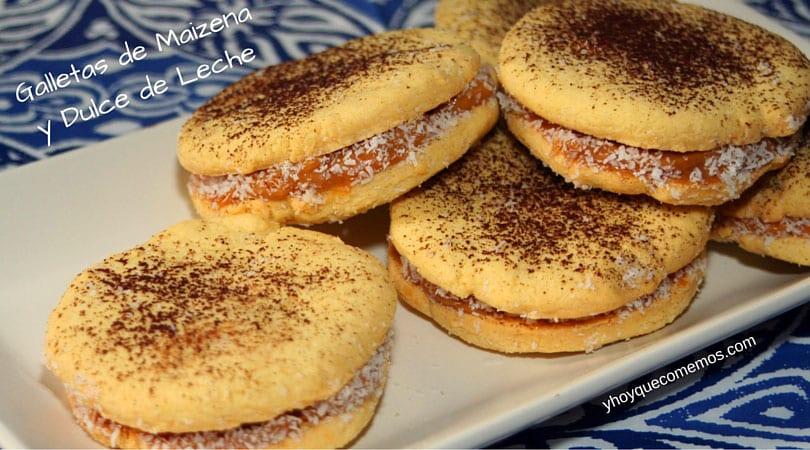 galletas de maizena rellenas de dulce de leche