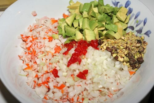 ingredientes-para-el-Tartar-de-Aguacate-y-Cangrejo