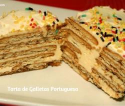 tarta de galletas portuguesa