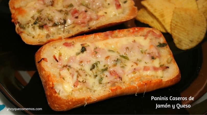 paninis caseros de jamon y queso