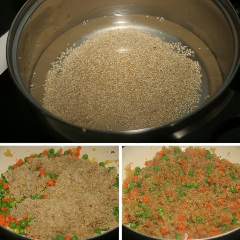 receta de quinoa frita