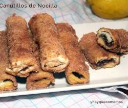 receta de Canutillos de Pan de Molde con Nocilla
