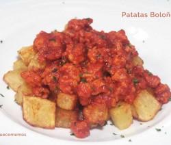 patatas boloñesa