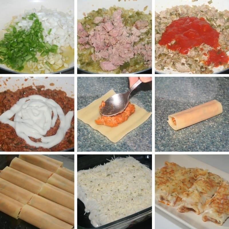 receta de canelones de atun