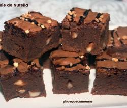 brownie de nutella o nocilla