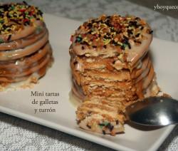 mini tartas de galletas y turron