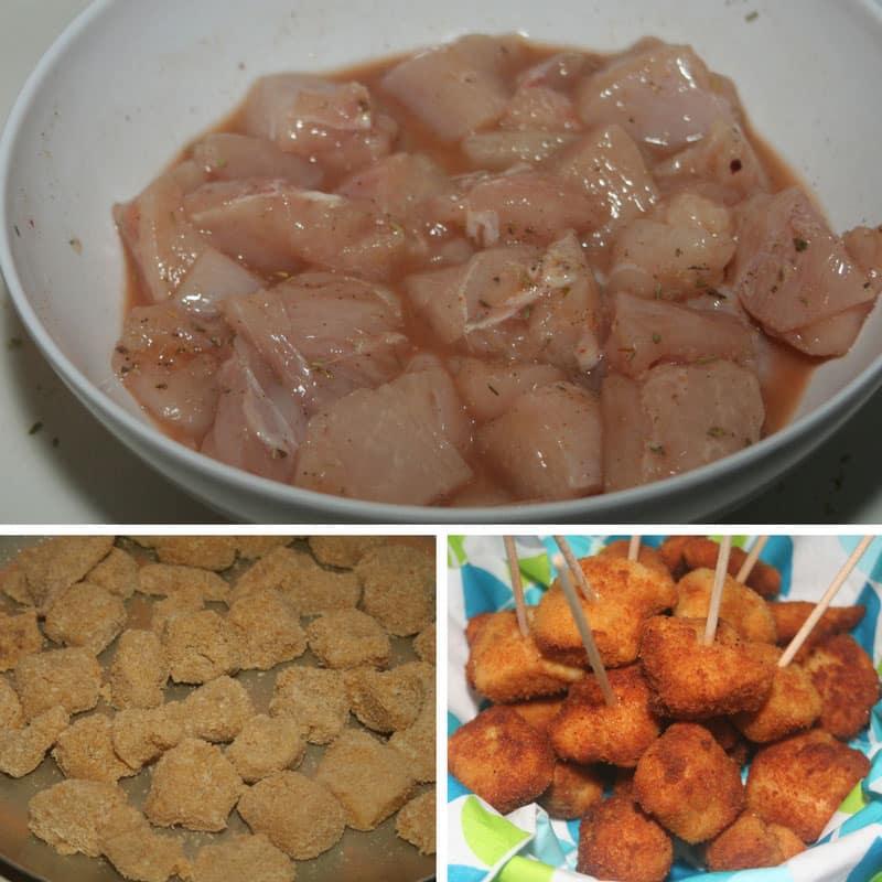 receta aperitivos de pollo