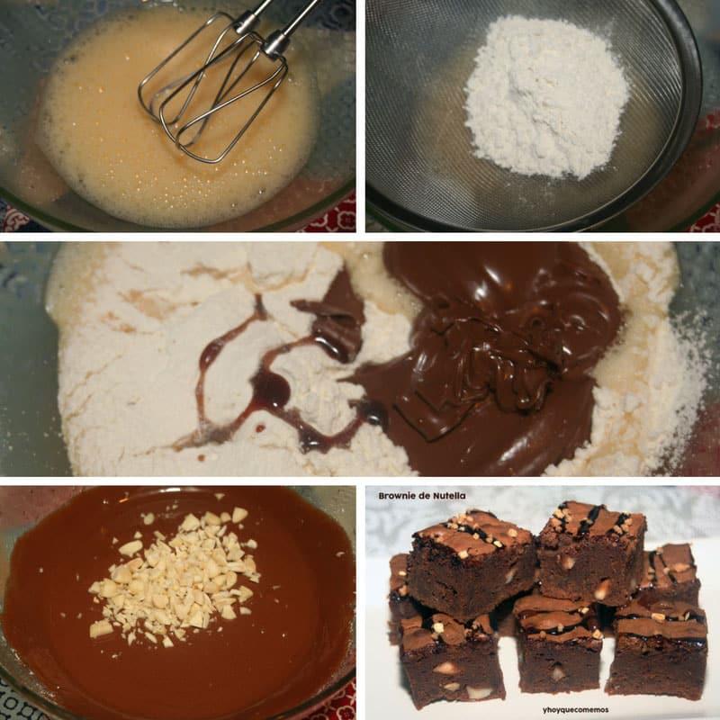 receta brownie de nutella o nocilla
