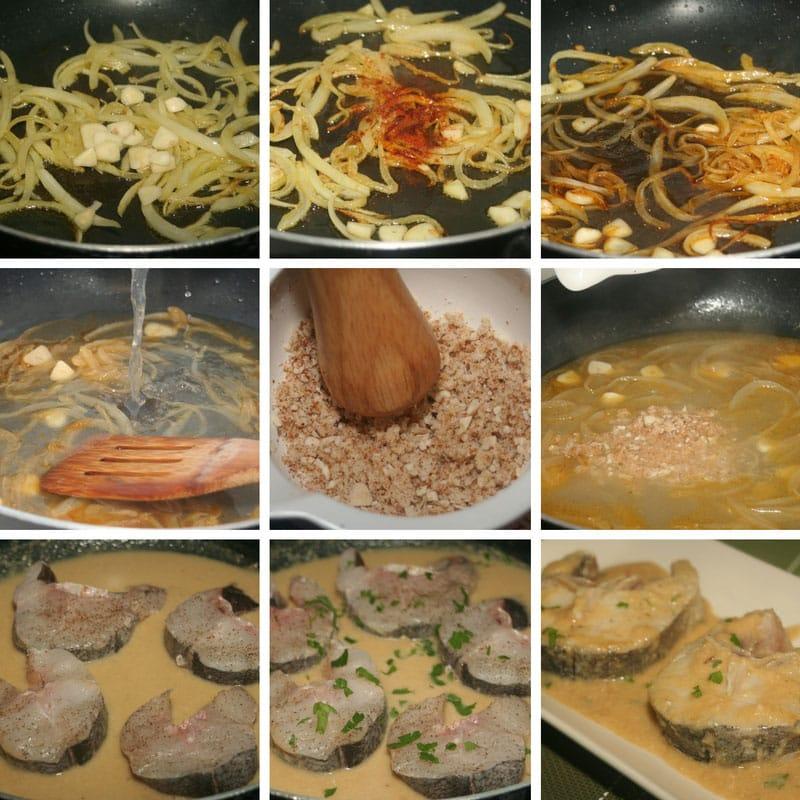 receta merluza en salsa de almendras