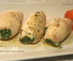 pollo con espinacas