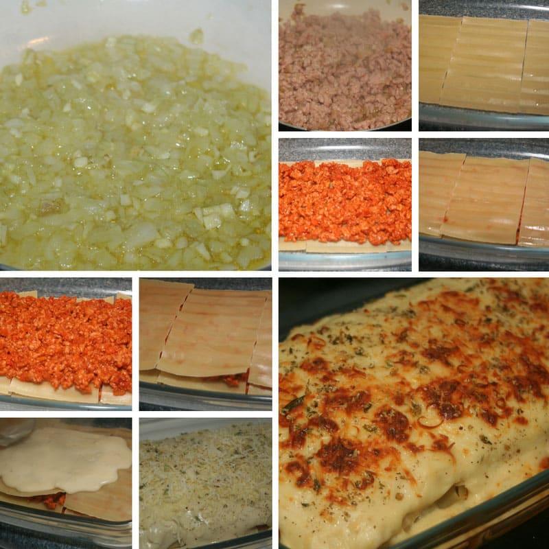 receta lasaña boloñesa