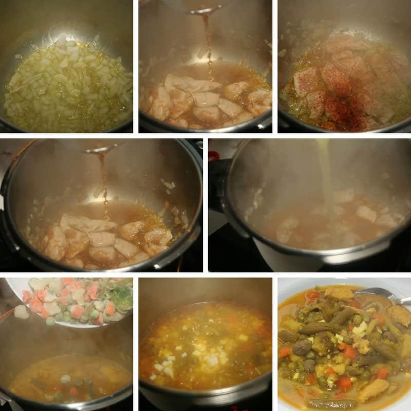 receta menestra verduras con pollo