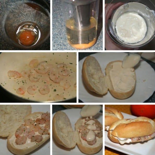 receta de montadito de gambas con alioli