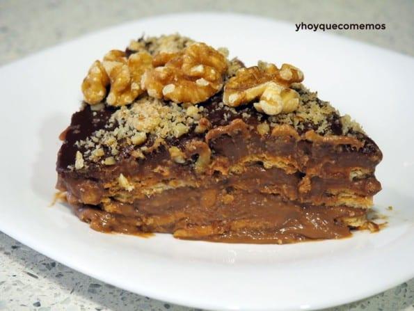 receta de tarta de galletas y colacao