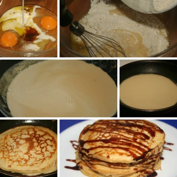 receta tortitas americanas o pancakes
