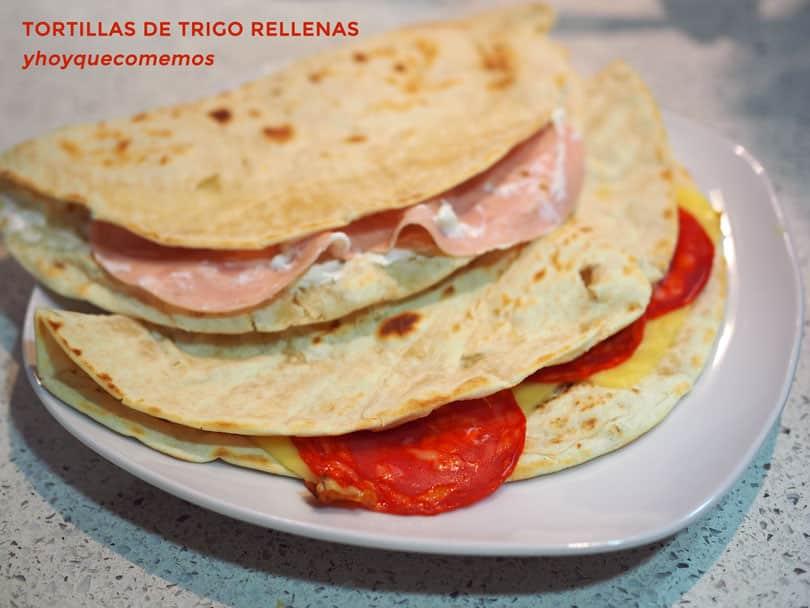 Tortillas De Trigo Rellenas Recetas De Cocina Facil Y