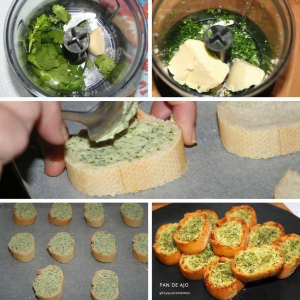 receta como hacer pan de ajo