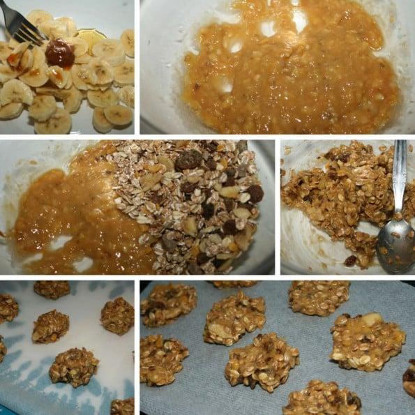 receta galletas de platano y cereales
