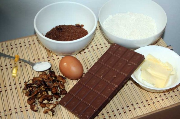 Galletas de Chocolate y Nueces (Cookies) ingredientes