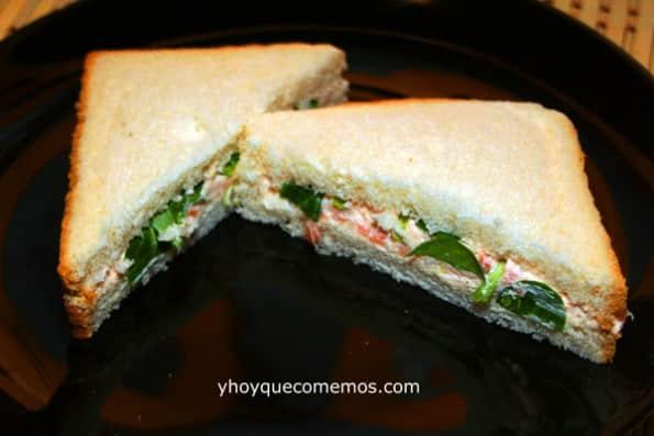 Sandwich de Pasta de Salmón y Canónigos