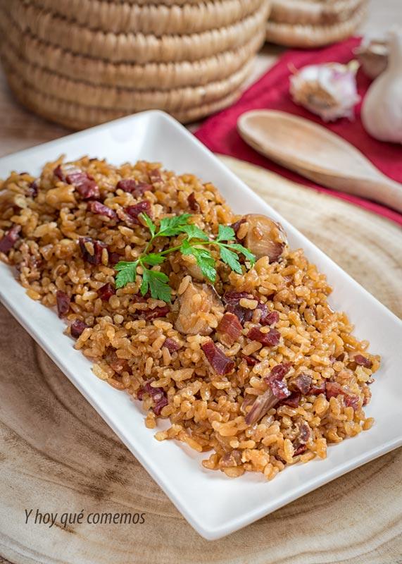 arroz con jamon receta facil