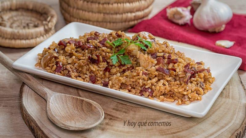 receta de arroz con jamon facil