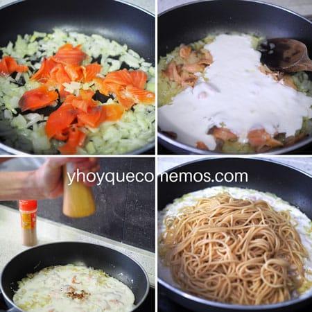 receta pasta con salmon