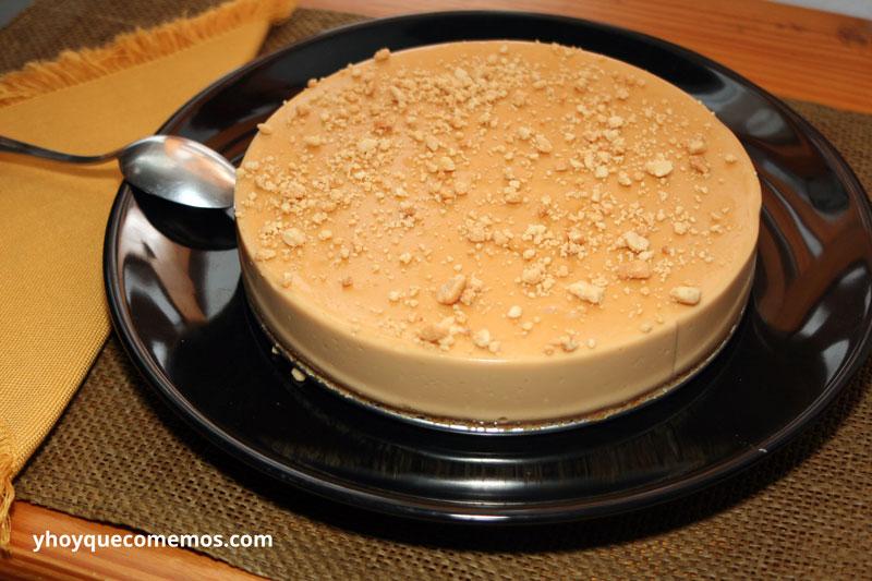como se hace la tarta de dulce de leche con base de galletas