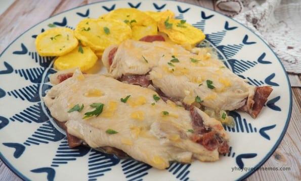 pechuga de pollo rellena de jamon receta 1