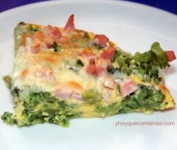 pastel de brocoli