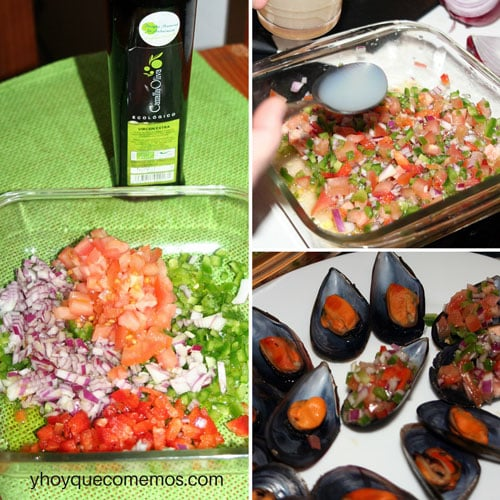 receta salpicon de mejillones