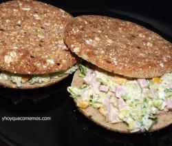 sandwich ligero y saludable