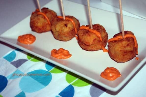 bolas de patatas