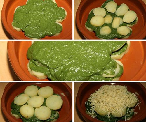 Montar-las-Patatas-con-Espinacas