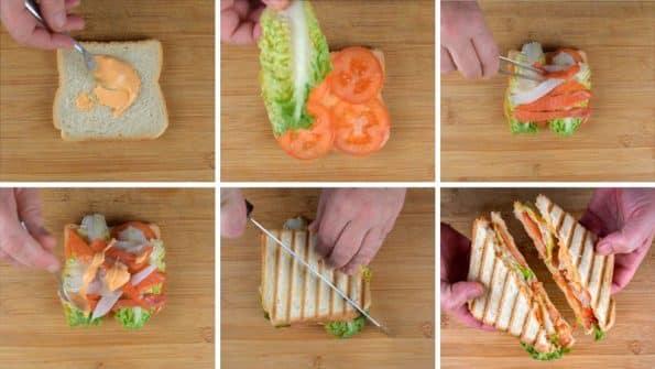como se hace el sándwich de ahumados paso a paso