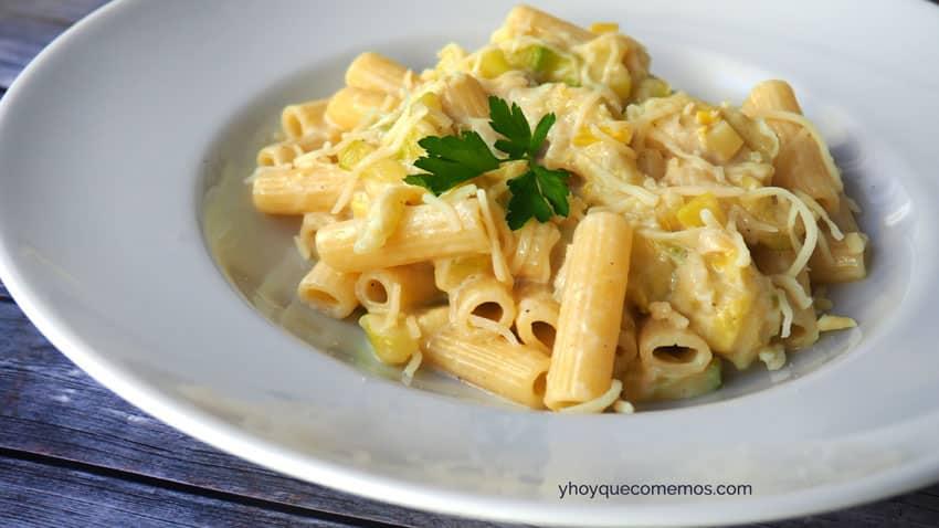 pasta con calabacin receta 2