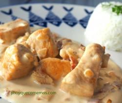 pollo con nata receta 2