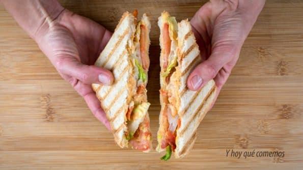 receta sándwich de ahumados