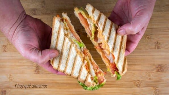 sándwich de ahumados paso a paso