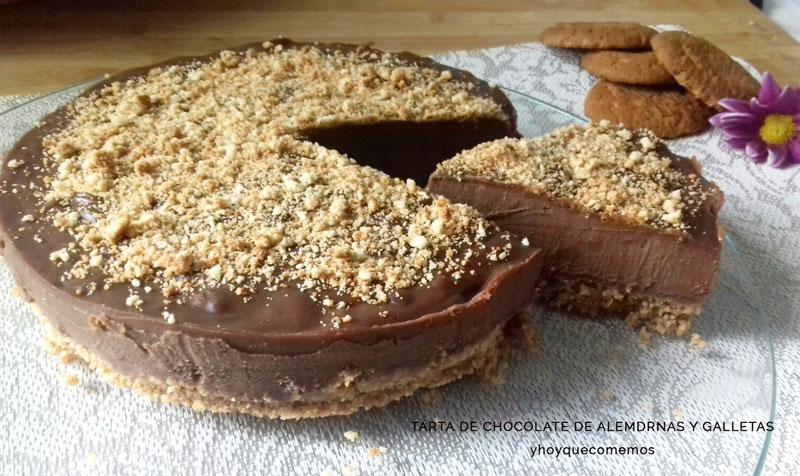 tarta de galletas campurrianas y chocolate de almendras receta