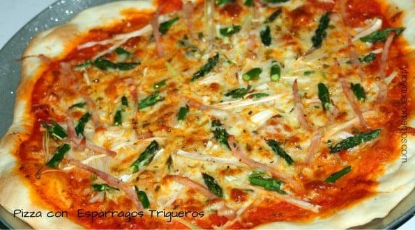 pizza de esparragos trigueros