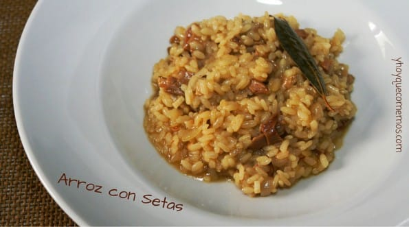 arroz con setas
