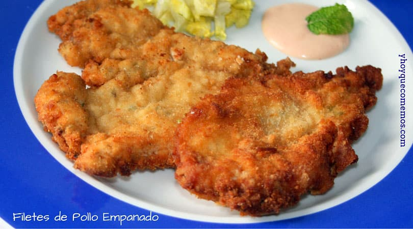 filetes de pollo empanado