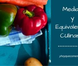 medidas y equivalencias culinarias