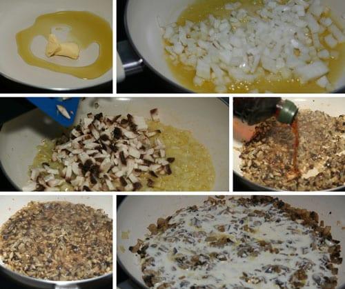 receta de pollo con salsa de champiñones
