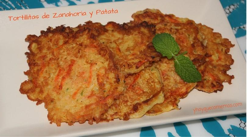 tortillitas de zanahoria y patata
