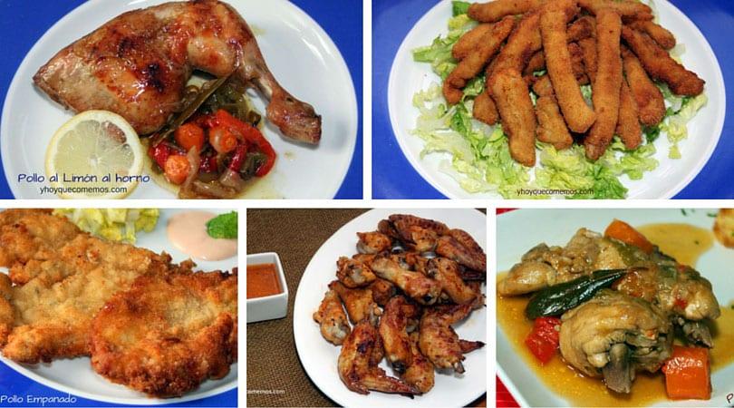 7 recetas faciles con pollo
